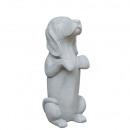 wholesale Decoration: Concrete dog Teckel , H57cm, L25cm, B23cm, gray